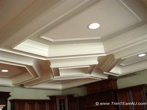 coffered ceilings  beams trim team nj woodwork