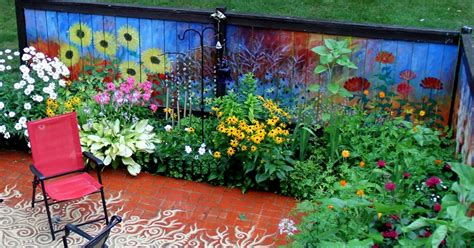 garden murals for outdoors i revived our old garden fence by painting vivid flowers on it bored panda