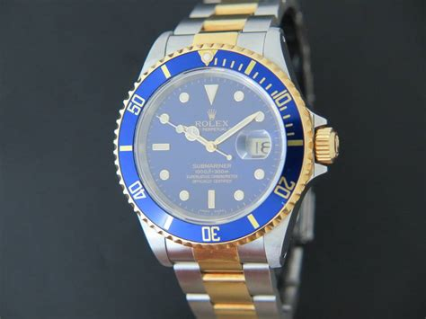 rolex submariner date goldsteel blue dial filipucci