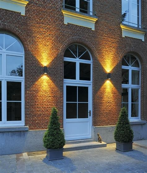 2 light outdoor wall sconce ip55 led exterior cylinder wall light up