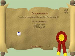 Osrs quest rewards — this indicates the number of experience