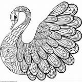 Zentangle Coloring Pages Animal Printable Swan Easy Adult Zentangles Getcoloringpages Drawing Books Mandala Colorare Zen Da Birds Doodle Animali Print sketch template