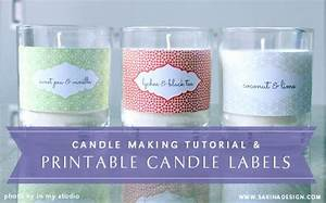 Make your own scented soy candle and decorate it with your for Create your own candle labels