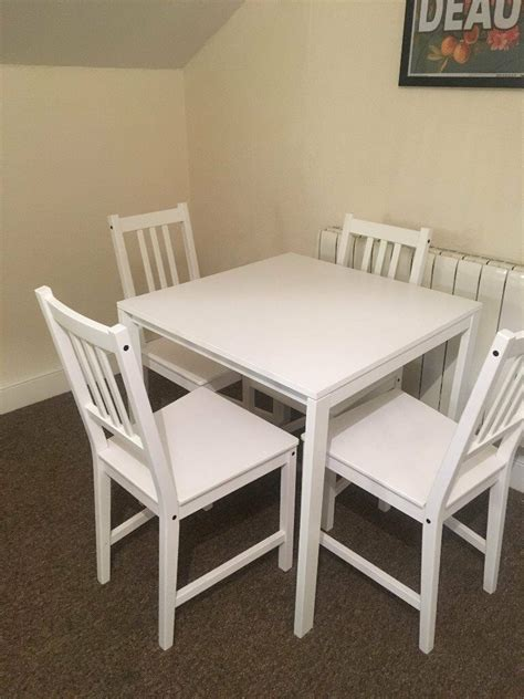 Melltorp Tisch Ikea by Ikea Melltorp Table And Stefan Chairs X4 White In