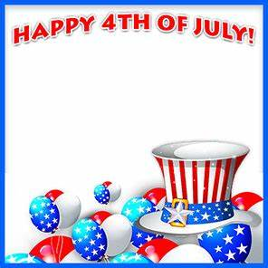 Happy 4th of July Borders - Free 4th of July Border Clip Art