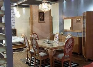 Salle a manger ovale fleurie meubles kelibia messelmani for Salle a manger kelibia