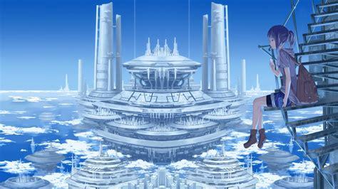 Anime City Scenery Wallpaper - anime scenery hd desktop backgrounds 2747 hd