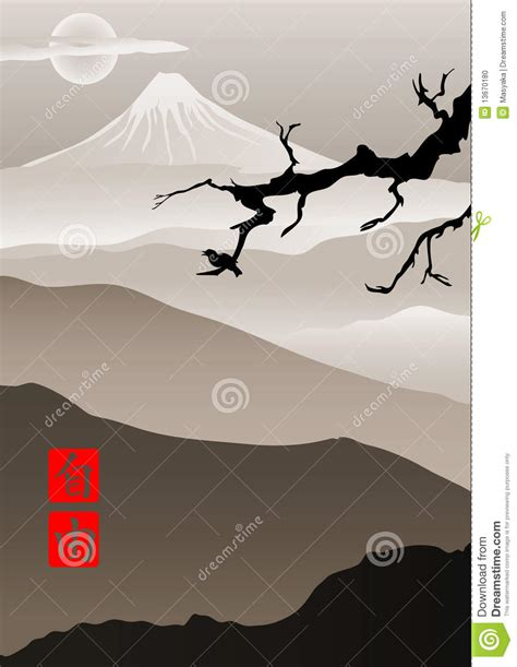 l japanse stijl beeld in japanse stijl vector illustratie illustratie