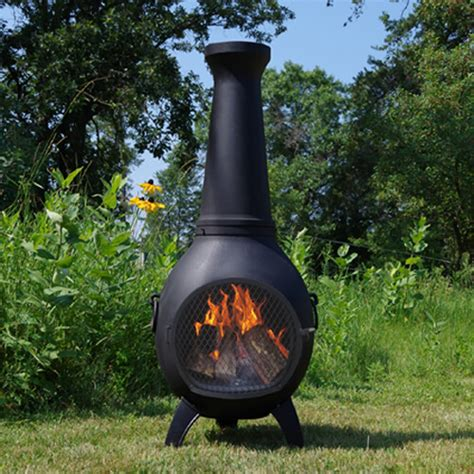 prairie cast iron chiminea from the blue rooster