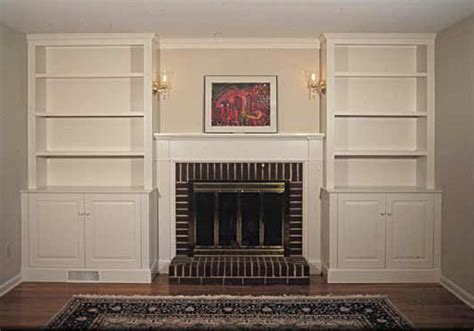built in bookcases around fireplace fireplace built ins in pa de