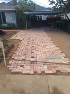 brick driveway driveway paving using old canberra red bricks recycled canberra red brick driveway