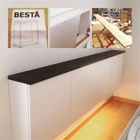 Ikea Tv Wandhalterung by Ikea Hack Ikea Besta Cabinets Mounted On The
