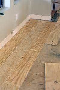 green notebook diy wide plank floors made from plywood crafty diy
