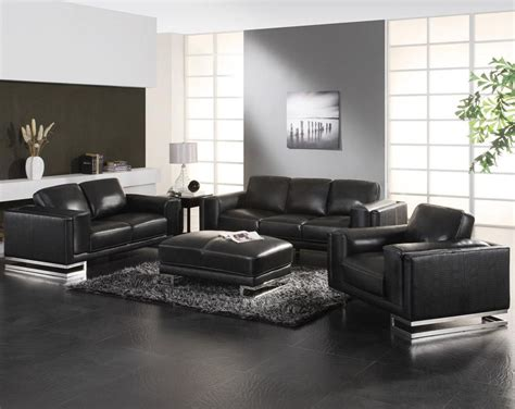 White Contemporary Leather Living Room Furniture