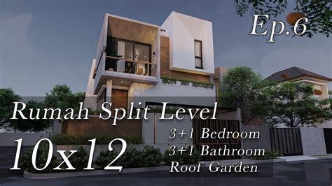 desain rumah split level lahan hook  youtube
