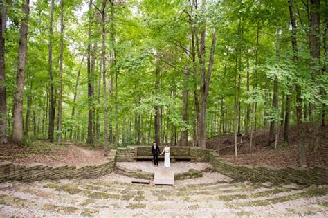 fall wedding   indiana state park brown county