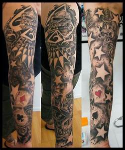 New Skool tatoo sleeve idea. Best card sleeve themed tatt ...