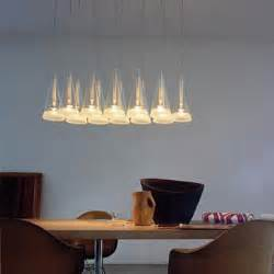 fucsia modern dining room lighting by flos