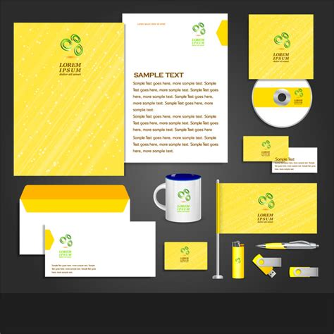 corporate identity template free vector in adobe