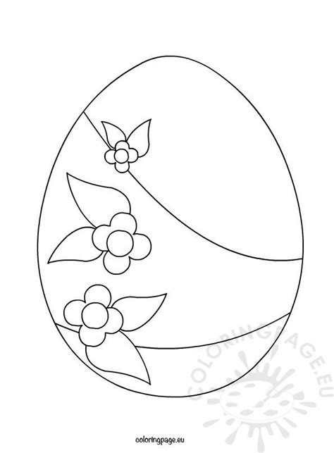 big easter egg  flowers coloring page