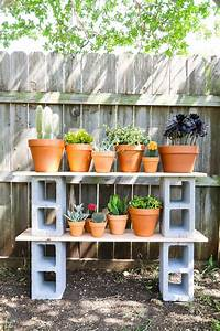 Easy, Cinder, Block, Shelves, Perfect, For, Plants