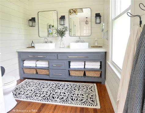 paint colors farmhouse bathroom ideas roundecor