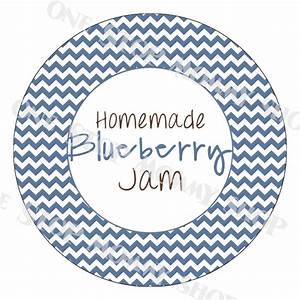 printable blueberry jam canning lid labels With jam lid labels