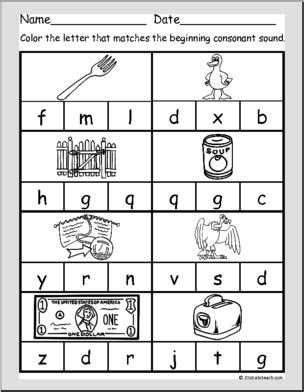 ela reading consonant sounds worksheets page 0 abcteach