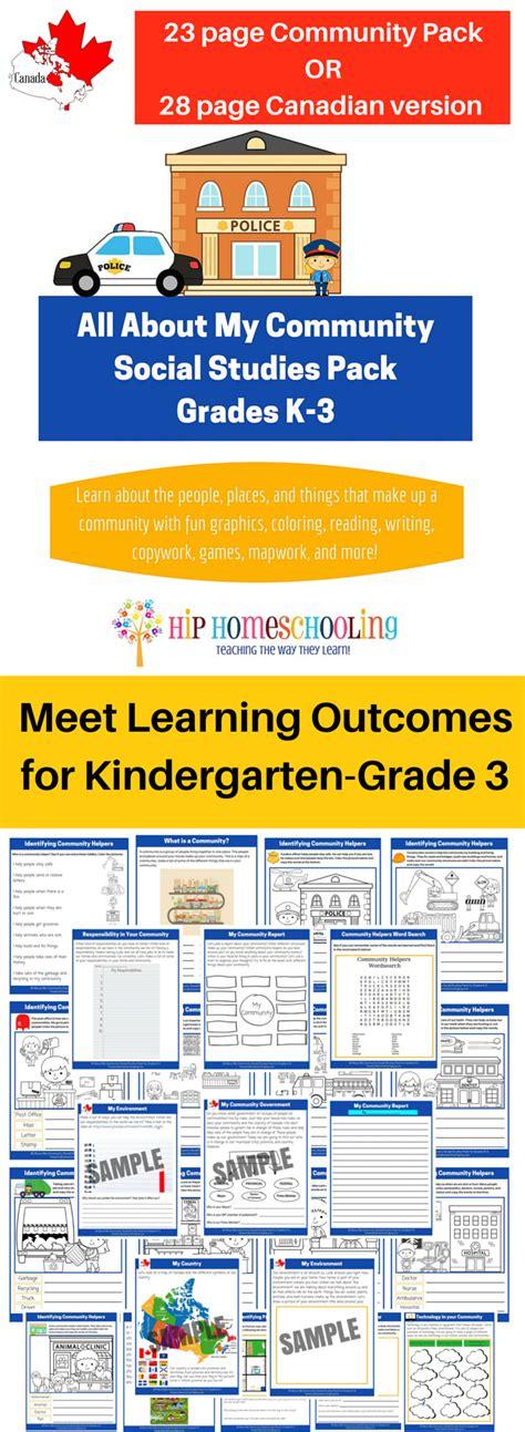 Social Studies K3 Printable Packmeet Learning Outcomes