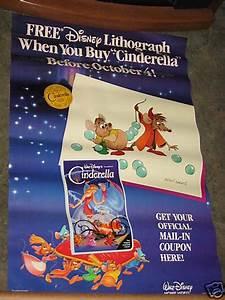 Cinderella 1988 VHS Movie Poster 26x40 Walt Disney | eBay