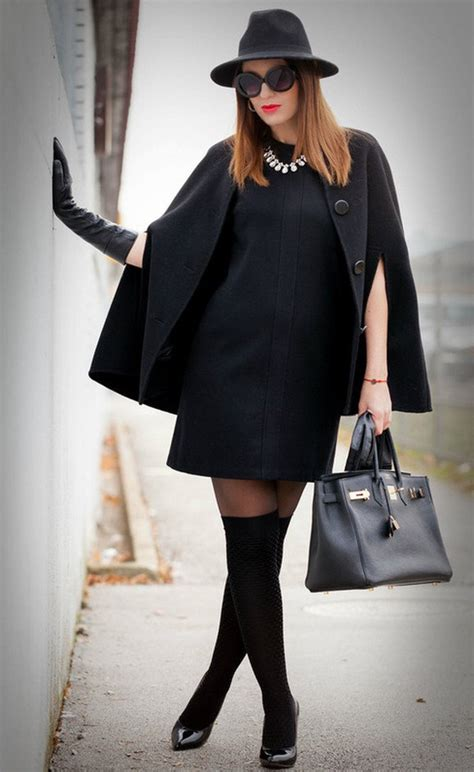 All Black Outfit Idea with Winter Dress | Styles Weekly