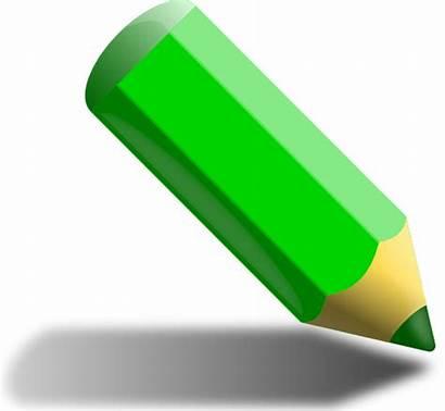 Pencil Clipart قلم الوان اخضر صوره Verde