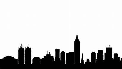 Skyline Atlanta Vector Silhouette Drawing Indiana Indianapolis