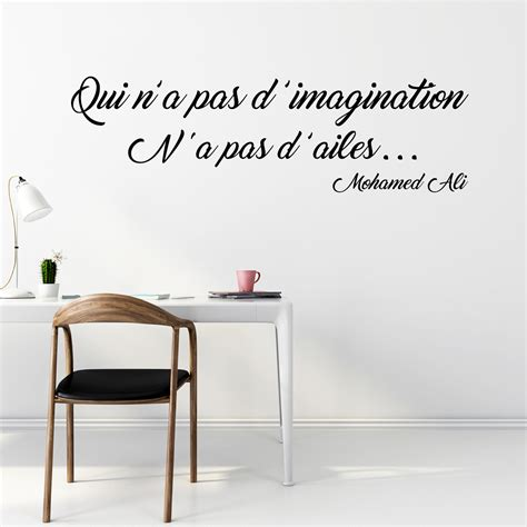 stickers pour bureau sticker citation l 39 imagination mohamed ali stickers