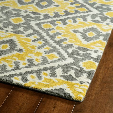 gray and yellow area rug yellow and grey global inspirations rug rosenberryrooms