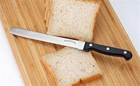 Stainless Steel Kitchen Knife Set Wooden Butcher Block