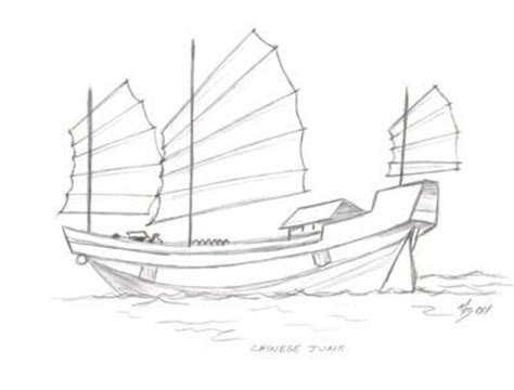 How To Draw A Ancient Boat by Junk Boats Junk Junk Boats