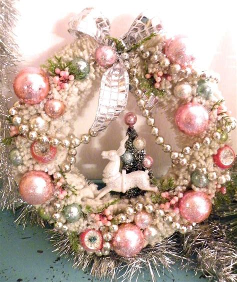 pink christmas wreath pink shabby christmas pinterest
