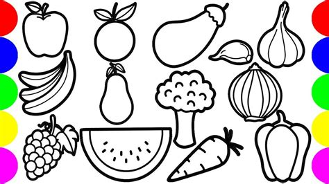draw fruits  vegetables drawing pictures step