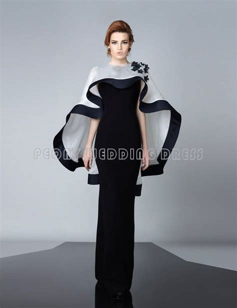 find  modest black evening dresses  white cape dress
