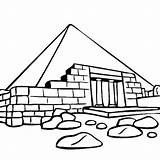 Coloring Ruins Pyramid Giza Egyptian Egypt Drawing Coloringsky sketch template
