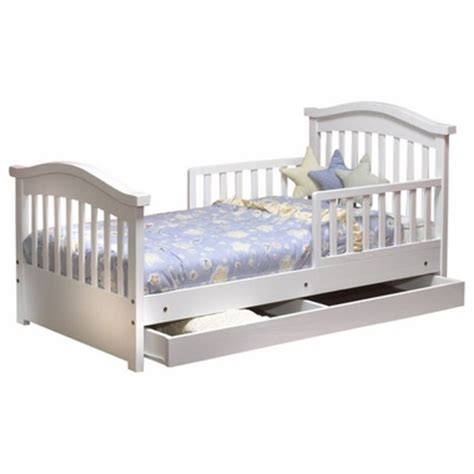 sorelle joel pine toddler bed with underbed drawer in