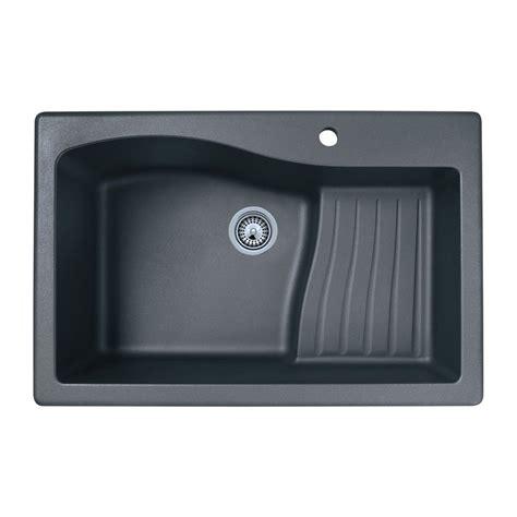 1 basin kitchen sink shop swan 22 0000 in x 33 0000 in nero single basin