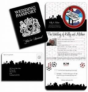 las vegas wedding invitations With las vegas passport wedding invitations