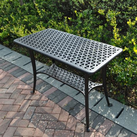 grill side table outdoor bbq metal garden side table lazy susan