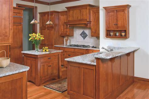 mission style birch kitchen craftsman kitchen cleveland  schrocks  walnut creek