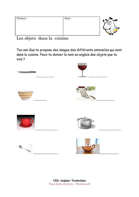 exercice corrig 233 pour le ce2 les objets dans la cuisine