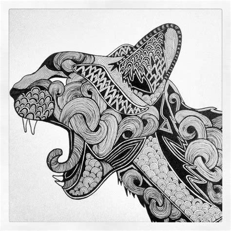 zentangle  pinterest alphabet templates animal