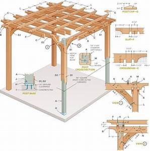 Plans And Instructions To Build Your Own Pergola  Garden