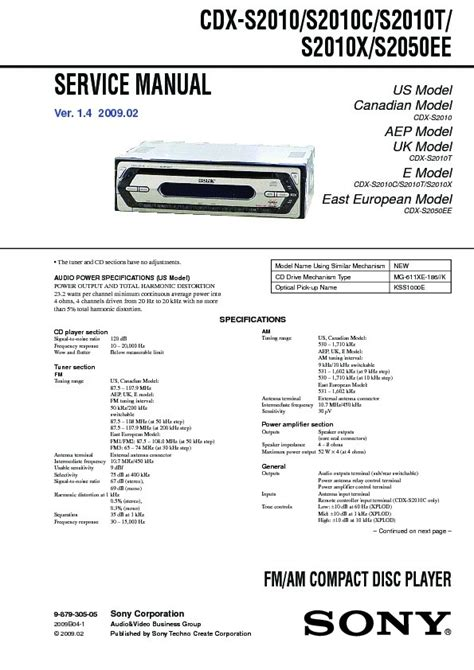 sony cdx s2010 wiring diagram wiring diagram and schematic diagram images